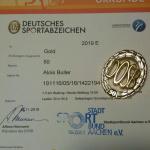 Urkunde des Sportabzeichens